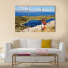 The birthplace of the sun Landscape of the Titicaca lake Multi panel canvas wall art