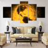 Total warming of planet Earth - America Multi Panel Canvas Wall Art