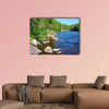 Beautiful Forest Lake in Finland Multi panel canvas wall art