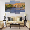 Typical sailing on the Nile In the background Multi panel canvas wall art