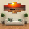 Fishing boat on Sri Lanka Multi Panel Canvas Wall Art