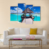 Jetty with amazing ocean view on tropical island Multi Panel Canvas Wall Art