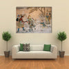 Chinese Classic Wall Drawing Multi Panel Canvas Wall Art