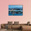 Vienna, aerial view at night multi panel canvas wall art