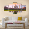 Taj mahal with tricolor Multi panel canvas wall art