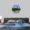 Skyline of Birmingham hexagonal canvas wall art