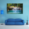 Waterfall in Deep forest, Kanchanaburi Thailand multi panel canvas wall art