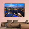 Singapore cityscape at night multi panel canvas wall art