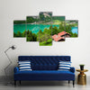 The Most Beautiful Lake Of The Switzerland, Lake Brienz, Multi Panel Canvas Wall Art