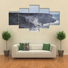 Lava erupting into Pacific Ocean in Hawaii Big Island multi panel canvas wall art