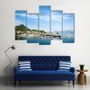 Beautiful Scene Of A Port With City Back Ground In Mexico Multi Panel Canvas Wall Art