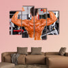 rear view of male bodybuilder Multi panel canvas wall art