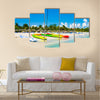 Kayaks And Sailing Boats On The Beautiful Beach Of Varadero In Cuba Multi Panel Canvas Wall Art