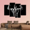 Bodybuilder showing his muscles Multi panel canvas wall art