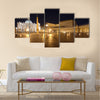 Italy. Rome. Vatican. Saint Peter's Square at night Multi panel canvas wall art
