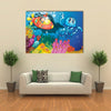 Illustration of Octopus and kids in Submarine, Multi Panel Canvas Wall Art