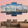 View of the landmarks of St. Petersburg Kunstkammer and the Rostral Columns multi panel canvas wall art