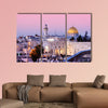 Dome of the Rock and Western Wall in Jerusalem, Israel multi panel canvas wall art