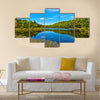 lake of sacacomie in quebec canada Multi panel canvas wall art