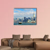 Urban architecture in Hong Kong Victoria Harbor multi panel canvas wall art