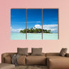 Uninhabited or Desert Island in the Blue Lagoon multi panel canvas wall art