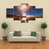 Fireworks on earth multi panel canvas wall art