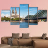 Wonderful view of Cologne over the Rheine River multi panel canvas wall art