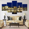 Panorama of Old Town of Split at Night Multi panel canvas wall art
