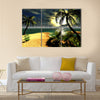 Hawaiian sunset in tropical paradise Multi Panel Canvas Wall Art