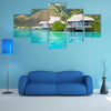 The Paradise Bungalows Multi Panel Canvas Wall Art