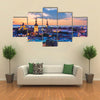 Wonderful evening scenic summer panorama of Tallinn, Estonia multi panel canvas wall art