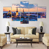 Wonderful evening scenic summer panorama of Tallinn Multi panel canvas wall art