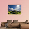Golf place with wonderful green for  multi panel canvas wall art