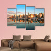 Vancouver skyline panorama at sunset Multi panel canvas wall art