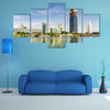 The panoramic view of the Donau City in summertime, Vienna, Austria multi panel canvas wall art