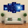 Beautiful View Of Starlight Night Illustration Multi Panel Canvas Wall Art
