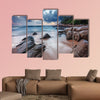 Tropical beach at beautiful sunset, Nature background multi panel canvas wall art