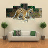 Tiger In Its Natural Habitat Multi Panel Canvas Wall Art