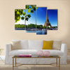 Seine in Paris with Eiffel tower in sunrise time Multi panel canvas wall art