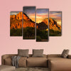 Red Rock Mountains of Sedona multi panel canvas wall art