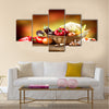 Healthy Organic Vegetables Still life Art Design Multi panel canvas wall art