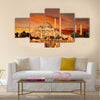 Hagia Sophia in Istanbul at dusk Multi panel canvas wall art