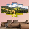 Beautiful valley in Settle near Lake Zug in Switzerland Multi panel canvas wall art