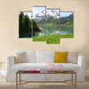 Mountain lake Switzerland Multi panel canvas wall art