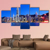 Hong Kong at night multi panel canvas wall art