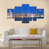 skyline and Bay of Panama, Panama, Central America in the sunset Multi panel canvas wall art