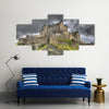 Edinburgh Castle on Castle Rock in Edinburgh, Scotland Multi Panel Canvas Wall Art