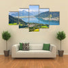 Beautiful view of the city of Zellam See with Zeller Lake in Salzburg, Austria Multi panel canvas wall art