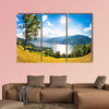 Panoramic view of the city of Zell am See with Zeller Lake in Salzburg, Austria Multi panel canvas wall art