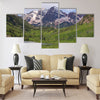 Summer Maroon Bells at Noon Multi panel canvas wall art
